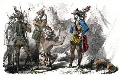 Pizarro y el Inca