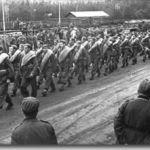 Llegada de los divisionarios a Grafenwöhr 1941