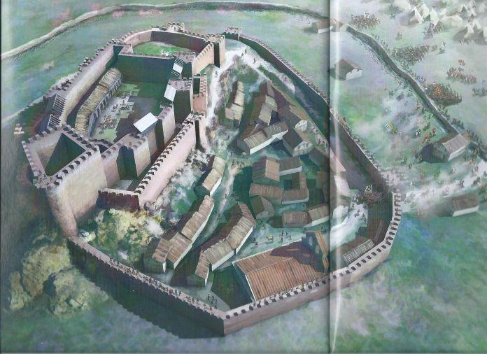 Representación del castillo de Montiel.