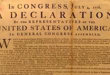 Declaración de independencia Estados Unidos