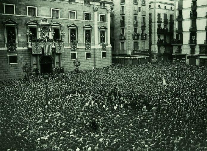 proclamacion segunda republica san jaume barcelona