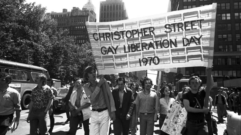 Primera conmemoración de Stonewall. Nueva York, 1970.