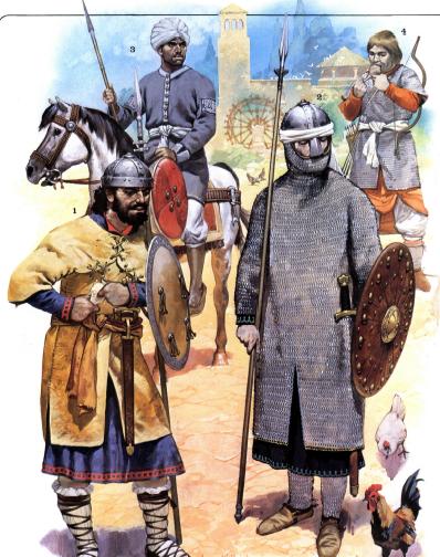 Representación de tropas andalusíes del siglo X y XI