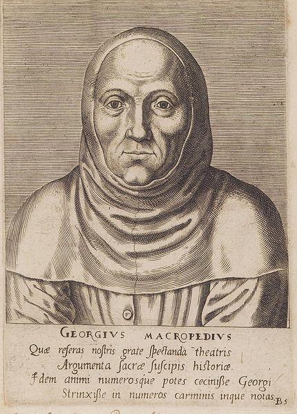 Georgius Macropedius como hermano de la vida en común, 1572,  Library Rijksuniversiteit Gante