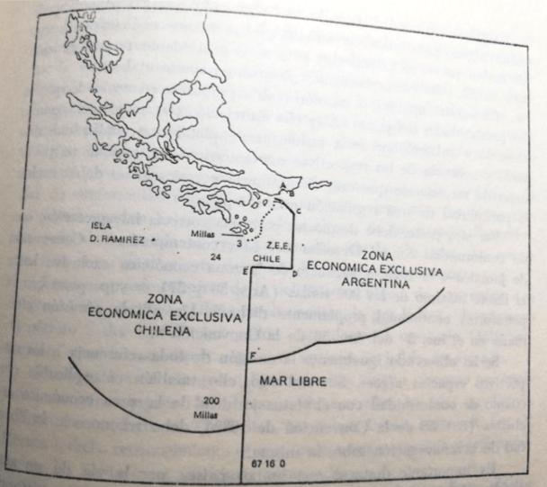 El acuerdo final entre ambos países con la mediación vaticana. (Imagen: Rey Caro, 1986)