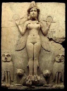 La Reina de la Noche. (1800-1750 a. C.). Museo Británico.