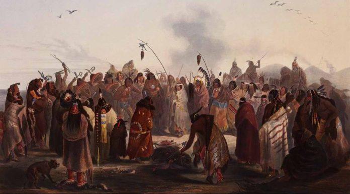 Baile ritual con gran simbolismo donde se muestra la caza de cabellera de los sioux Minnataree