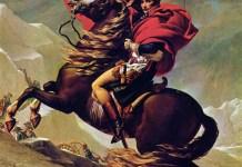 Napoleón coronando los Alpes