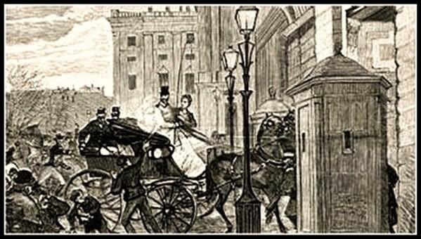 Grabado que muestra el atentado contra Alfonso XII en 1879 (Desconocido) | Wikimedia