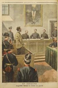 Consejo de guerra contra Angiolillo en 1897 (Le Petit Journal) | Wikimedia