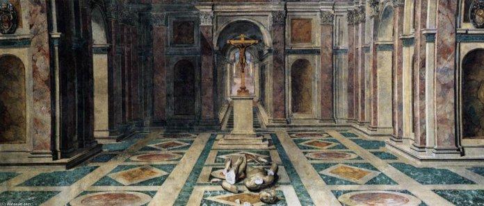 Tommaso Laureti The triumph of cristianism triunfo del cristianismo