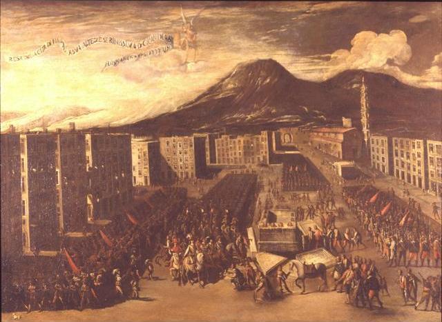 Resa di Napoli a don Giovanni d'Austria en 1648 (Carlo Coppola, siglo XVII),