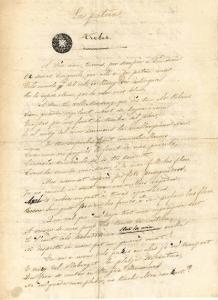 Manuscrito de La Pàtria de Bonaventura Carles Aribau | Biblioteca de Catalunya