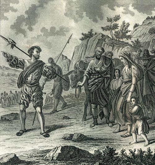 Grabado de la expulsión de los moriscos.
