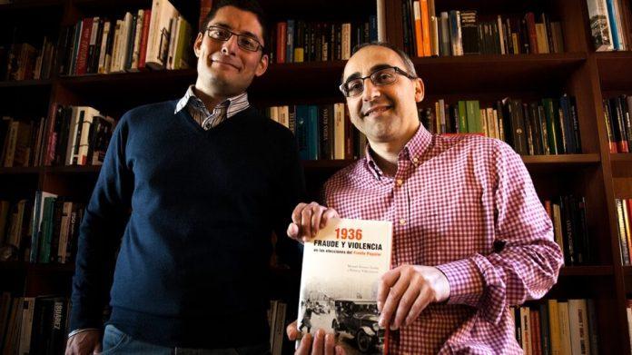 Roberto Villa García (izquierda) y Manuel Álvarez Tardío (derecha). Fraude y violencia en las elecciones del Frente Popular