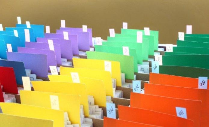 imagene de archivos coloridos
