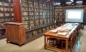 Sala de Manuscritos de la Biblioteca de Reserva para visitas y clases. Biblioteca de Reserva UB.