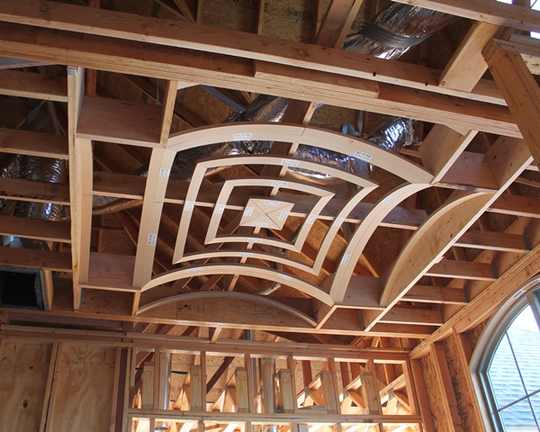 Vaulted ceiling construction for Barrel vault roof