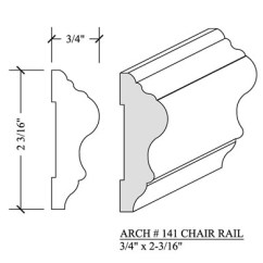 Chair Rail Molding Profiles Rustic Wedding Sashes Arch 141