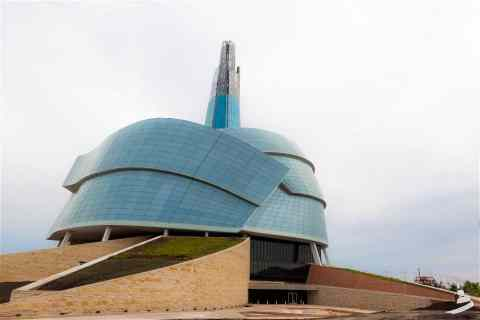 Canadian Museum for Human Rights by Antoine Predock Architect view1