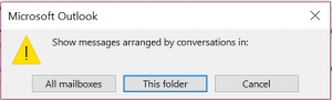 Outlook emails as conversations