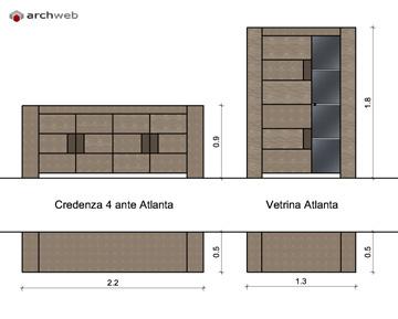 Mobili per soggiorno componibile  disegni dwg