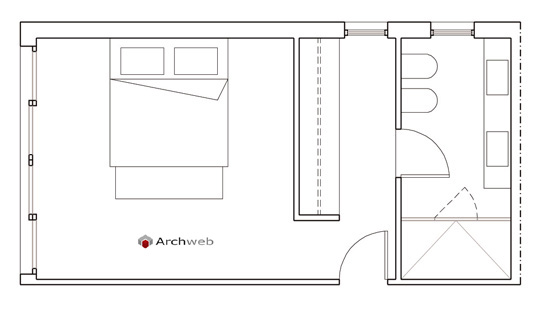 Letto zona notte dwg  sleeping area 2