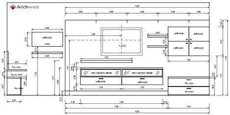 Pareti attrezzate 2D  Mobili per soggiorno