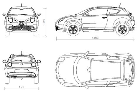 Alfa Romeo cad dwg