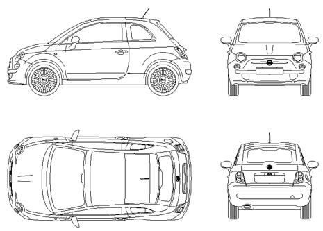 Fiat automobili cad dwg