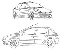 Peugeot cad dwg