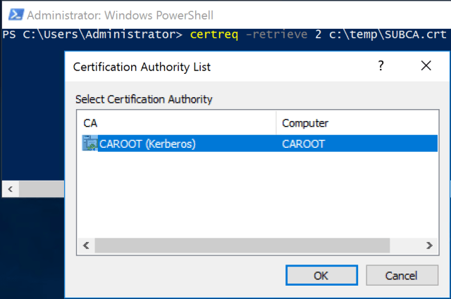 Active directory certificate services part2 archy dont export the new certificate to file and copy it to subca yadclub Image collections