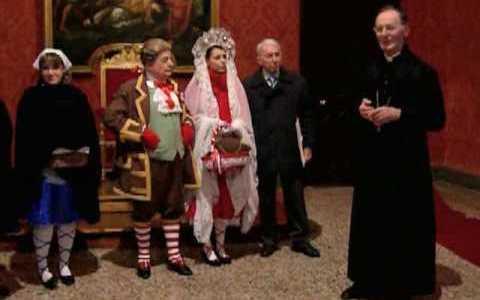 Saluto dell'Arcivescovo alle Maschere di Vercelli