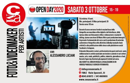 Open day VIDEO&FILM MAKER per ARTISTI