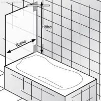 HSK Duschkabine K2 | Badewannenaufsatz Variante C