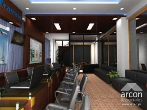 travel office interior