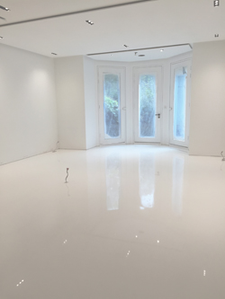 CASE STUDY White Gloss Resin Floor Finish  Arcon Supplies