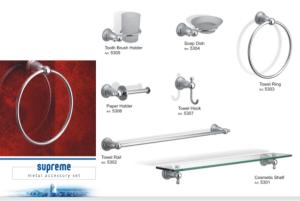 Faisal Sanitary Supreme metal Bath accessory set 5308