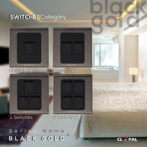 4 switch sheet black gold clopal