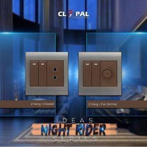 2+1 dimmer night rider clopal switch