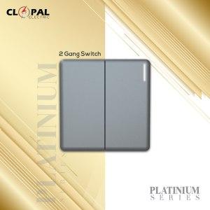 2gang switch clopal platinium series