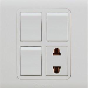 3 switch 1 socket type r clopal
