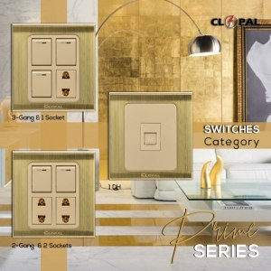 clopal prime brass series switches