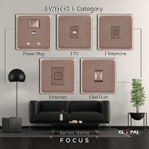 clopal electric switches focus series