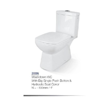 HD200N porta two piece commode