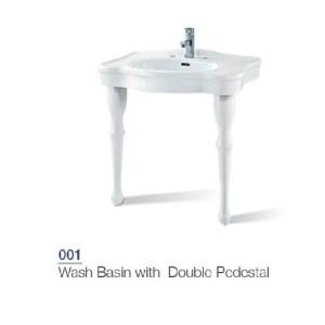 HDLP001 porta wash basin double pedestal