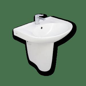 HDLP203AH half pedestal wash basin porta