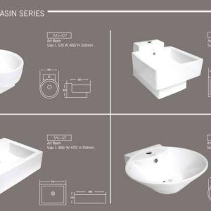 Art Wash Basin Bowl Marachi MJ7-MJ8-MJ12-MJ14