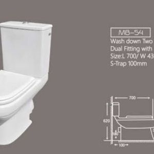 Two piece commode Marachi mb55