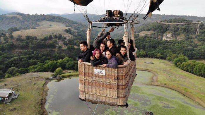 vuelo en globo en arcos del sitio